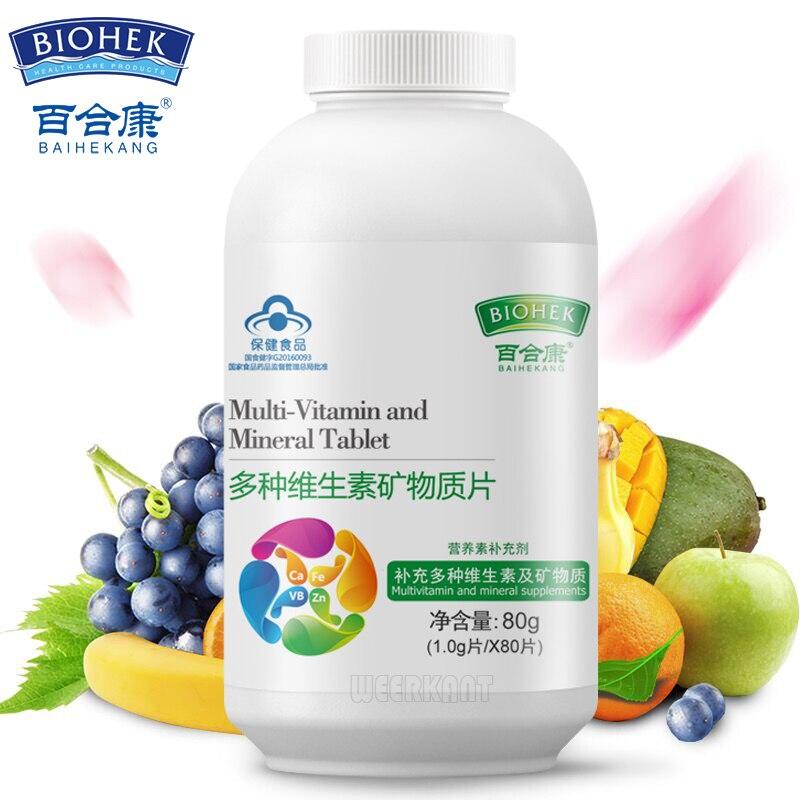 Multivitamin And Minerals Tablet Multi Vitamin Multimineral Supplement