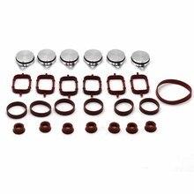 32mm / 22mm alumínio redemoinho flaps capa kit junta coletor para bmw e46 e60 e90 e91 11617790198 11612245439 11617800585