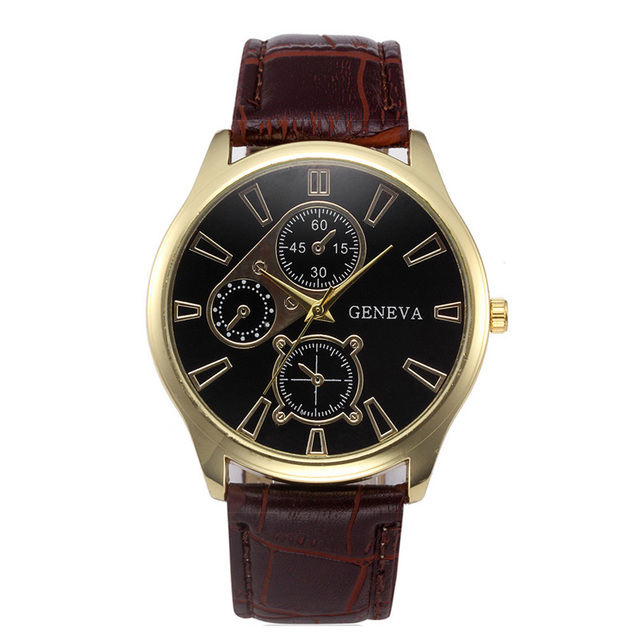 2020 Relogio Masculino Men Watches Geneva Fashion Leather Band Quartz Wristwatches Men Sports Watches Cheap Price Free Shipping