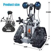 기술 크리 에이 티브 원격 제어 rc 로봇 전기 legoes 벽돌 diy 모델 빌딩 블록 어린이 선물 용품
