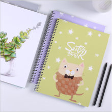 Portable Sketchbook Cartoon Notebook for Drawing Painting Graffiti Blank Paper Sketch Diary Book Memo Pad Gift School Supplies
