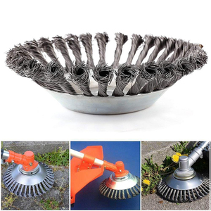 Image 1 - 6/8 inch Steel Trimmer Head Garden Weed Steel Wire Brush Break proof Rounded Edge Weed Trimmer Head for Power Lawn Mower Grass