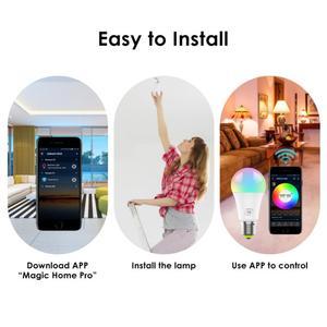 Image 4 - 1/10pcs Smart WiFi Glühbirne E27 Led Lampe 5W 7W RGB RGBCW Kühlen Licht Warm lichter Arbeit Mit Alexa Google Home Neue Jahr Lichter
