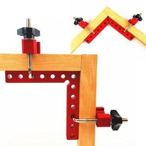 Image 1 - Houtbewerking 90 graden L vormige extra armatuur Aluminium vierkante Positionering heerser meten gauge hout timmerman DIY gereedschap