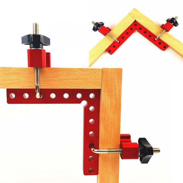 Houtbewerking 90 graden L vormige extra armatuur Aluminium vierkante Positionering heerser meten gauge hout timmerman DIY gereedschap