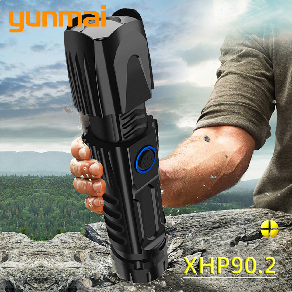 XHP90 2 Tactical Light Lamp LED Flashlight Torch Waterproof 18650 Or 26650 Battery Bulbs Shock Resistant Self Defense Hard