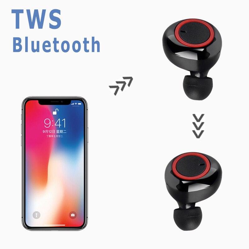 Bluetooth наушники 5,0 наушники-вкладыши TWS с Беспроводной Headphons наушники спортивные 3D стерео игровая гарнитура с микрофоном зарядным устройством для телефона 5