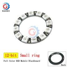 WS2812B anneau de LED rvb 12 Bits WS2812 5050 lumières de LED rvb avec Module de pilote intégré pour Module de panneau de lampe à LED Arduino 16bit