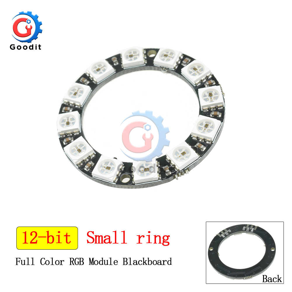 WS2812B RGB LED Ring 16 Bits WS2812 5050 RGB LED Lights With Integrated Driver Module For Arduino 16bit LED Lamp Panel Module
