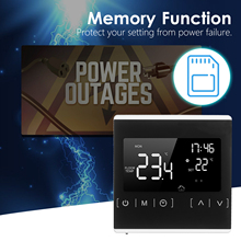 Smart Touchscreen Thermostat Programmable Electric Water Heating System Thermoregulator AC 85-250V Temperature Controller Heat