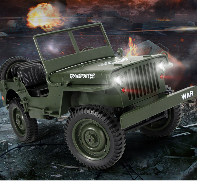 RC Truck Q65 1:10 2.4G 4WD Car convertible remote control light jeep four-wheel drive off-road Military climbing cars toys