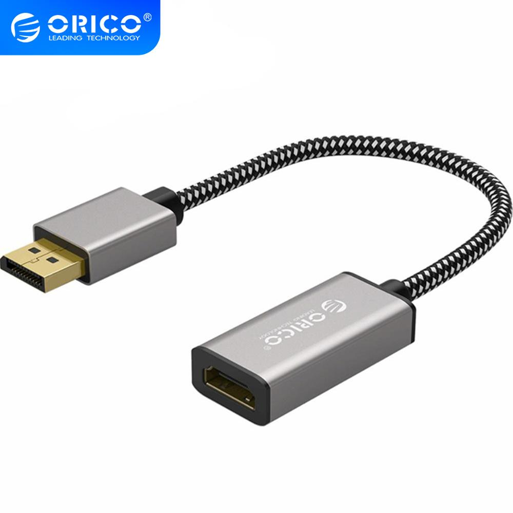 ORICO 4K 1080P 30Hz DP <font><b>to</b></font> <font><b>HDMI</b></font> Male <font><b>to</b></font> Female VGA <font><b>Mini</b></font> DP 2 Ports Canble HD Computer Monitor Screen <font><b>Adapter</b></font> for Dual Screen image