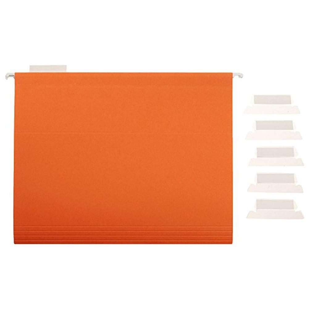 100pcs Crafts Transparent Film Convenient PVC Office Smooth Durable Label File Index Hanging Bendable Professional