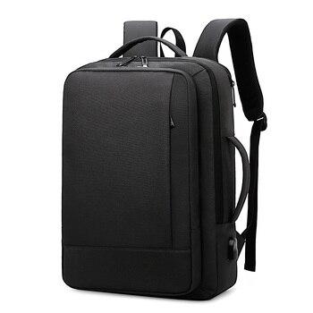 Mochila de gran capacidad de Triple capa para hombre, bolsa de viaje, mochila grande de tela de alta calidad para hombre, Bolsa para portátil de negocios informal de lujo