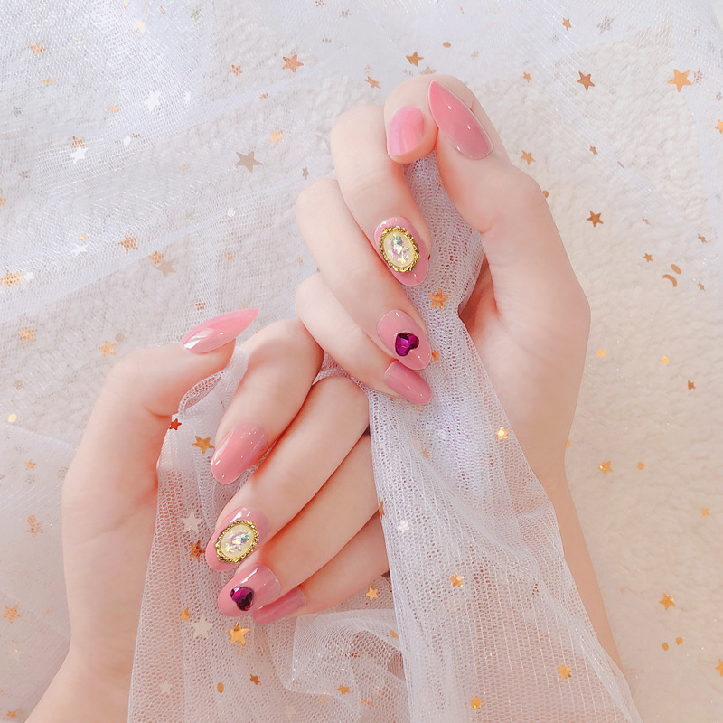 Finished Product Wear A Nail Sticker Powder Nail Tip Pretty Girl Warrior Waterproof Deconstructable Desirable Available With Fak