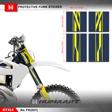 HUMAART Upper Fork Tube Wraps Decals สติกเกอร์ไวนิลสำหรับ MX Dirt Bike Off Road Motocross รถจักรยานยนต์,FK(021)