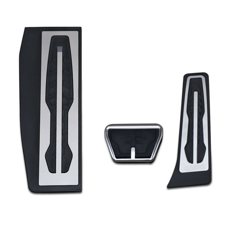 3pcs Car Footrest Brake Gas <font><b>Pedal</b></font> Cover For <font><b>BMW</b></font> 1 2 3 4 Series F20 F21 <font><b>F30</b></font> F31 F22 F23 F33 F34 F36 LHD Gas Brake <font><b>Pedal</b></font> Cover image