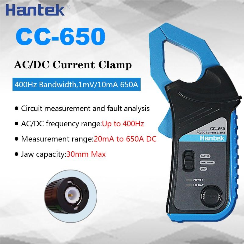 Hantek CC-650 AC/DC Current Clamp Electrical Meter Transducer With BNC Type Connector To Oscilloscope Hantek CC650