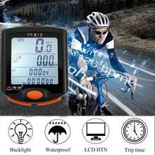 BICYCLE COMPUTER Wireless Cycle Computer Speedometer Digital Odometer Stopwatch Thermometer Backlight Rainproof Black cube cycle computer sl blackline