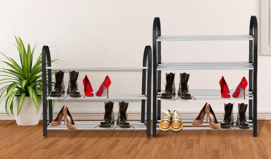 Shoes Rack Metal Standing Shoe Rack DIY Livingroom Space Saving Shoes Shelf Home Storage Organizer Bedroom Shoes Cabinets