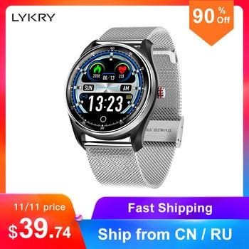 LYKRY MX9 ekg PPG inteligentny zegarek Monitor ciśnienia krwi pulsometr wielojęzyczne życie wodoodporny Smartwatch dla mężczyzn kobiet