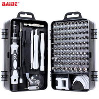115 in 1 Screwdriver Set With Mini Bit Plastic Case Precision Screw Drivers Kit for iPhone Huawei Tablet iPad Tools Kit|Power Tool Sets| |  -