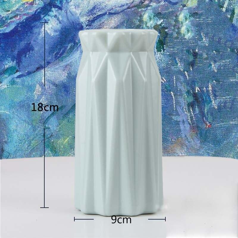 Оригами пластиковая ваза молочно-белая имитация керамического цветочного горшка Цветочная корзина Цветочная ваза для украшения интерьера скандинавские украшения - Цвет: 3501-Green