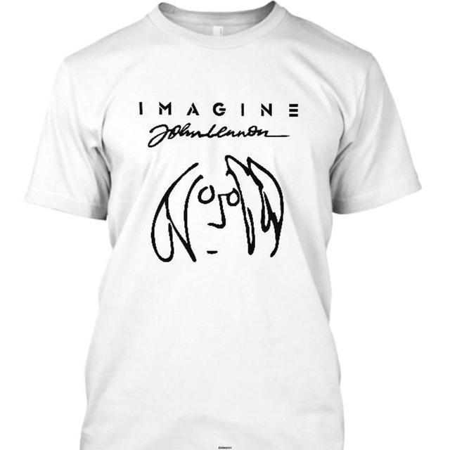 New Imagine John Lennon Short Sleeve Men T Shirt Size S 5Xl Men T Shirt Novelty O Neck Tops 1