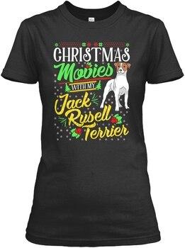 Męskie koszulki świąteczne filmy z moją koszulką Jack Russell Te dla kobiet