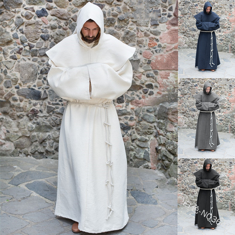 Men/'s Cloak Cosplay Cloak Winter Long Sleeve Costume Robe Solid Cape Long