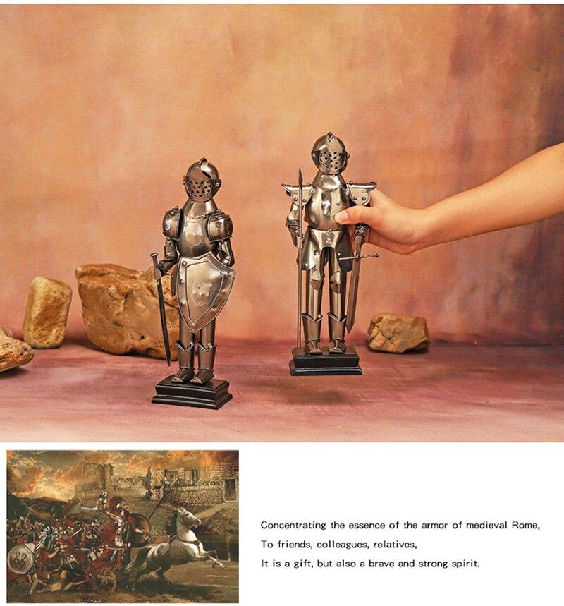 Arcaico metal spartan guerreiro escultura personagem estátua