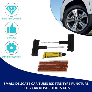 Useful! Delicate Car Tubeless Tyre Puncture Plug Repair Tools Kits Car-Styling Auto Accessories Motorcycle Bicycle Rubber Cement car tire repair tools tubeless tyre puncture repair plug kit needle patch fix tools cement useful set