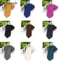 Luxury Cashmere Solid Color Tie Men Necktie Faux Suede Ties 6CM Skinny Waterproof Leather Fabric Gravata Neckwear