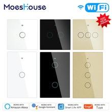 2020 NEW WiFi RF433 Smart Touch Switch 2/3 Way Smart Life/Tuya App Control,Alexa Google Home Voice Control 1/2/3 Gang EU US цена 2017