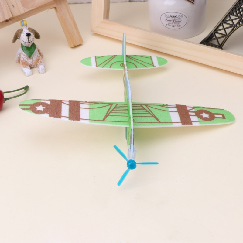Foam Paper Airplane Hand Throwing Gliding Plane Model DIY Children's Toy Gift Y4QA image