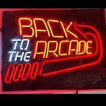 Personalizado de volta ao sinal de luz de néon arcade
