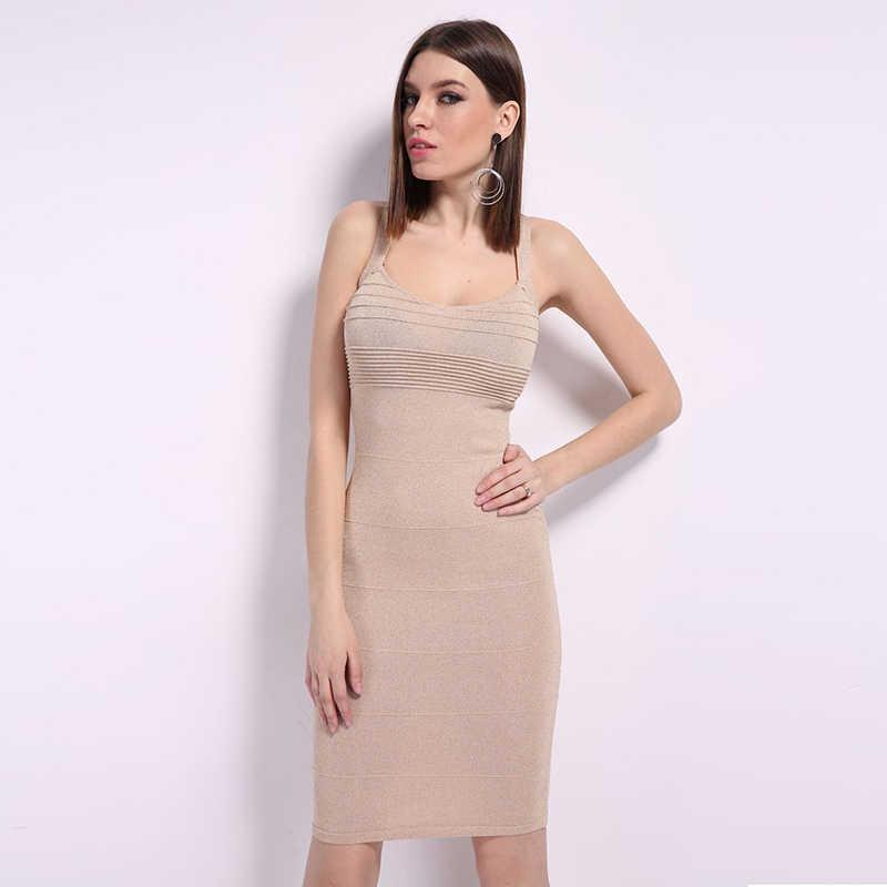 Lilacolor סרוג צלב ללא משענת סקסי נשים Slim שמלה לקיץ