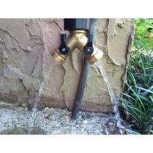 2-сторонний разветвитель для садового шланга разъем клапан воды из латуни газон полива для тяжелых условий эксплуатации