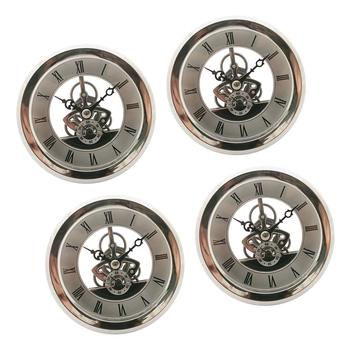 4 Pieces Quartz Watch Insert 103mm Dial Roman Numeral Quartz Watch