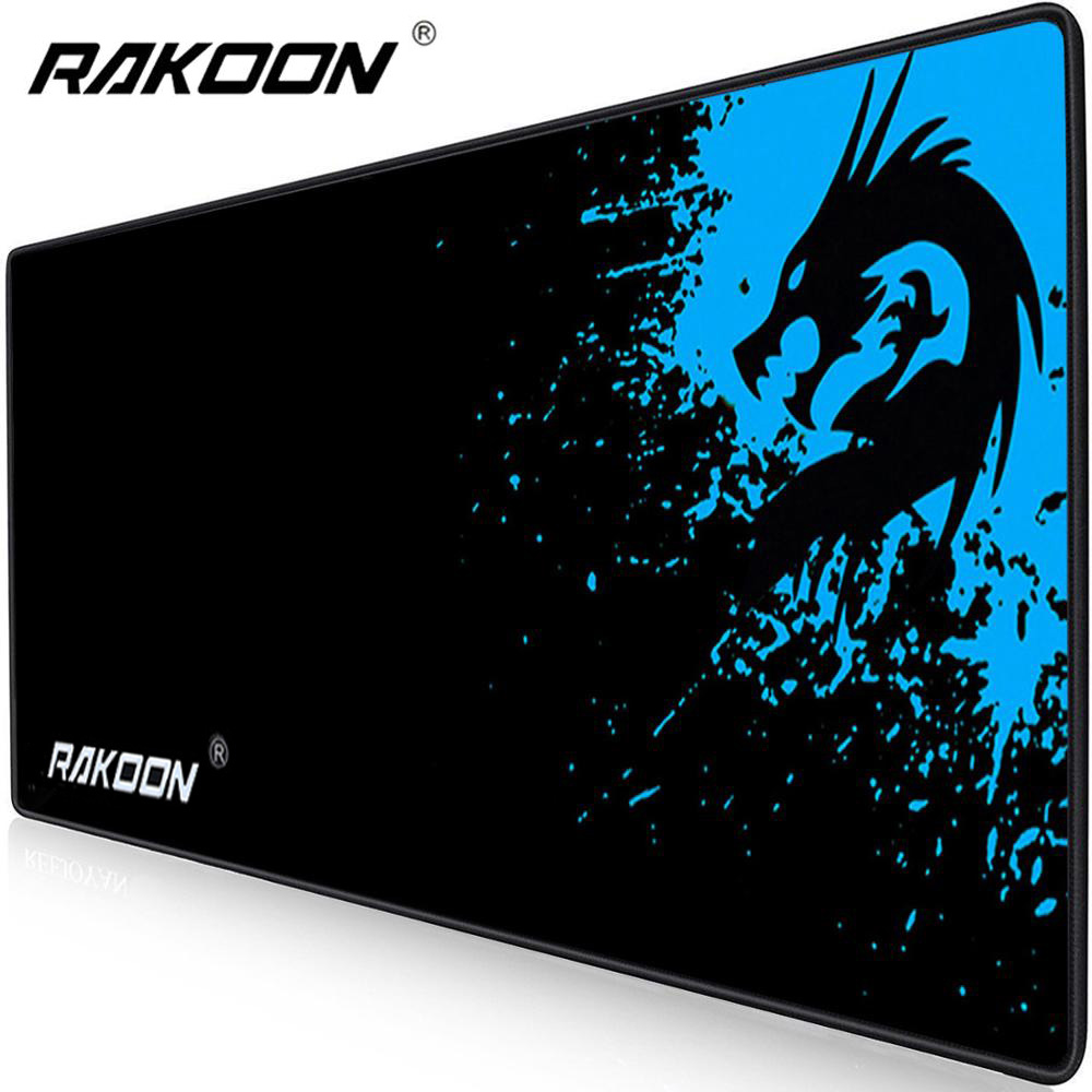 Rakoon Extended Gaming Mouse Pad Stitched Edges Computer Keyboard Mousepad Non-Slip Water-Resistant Rubber Base Mouse Mat