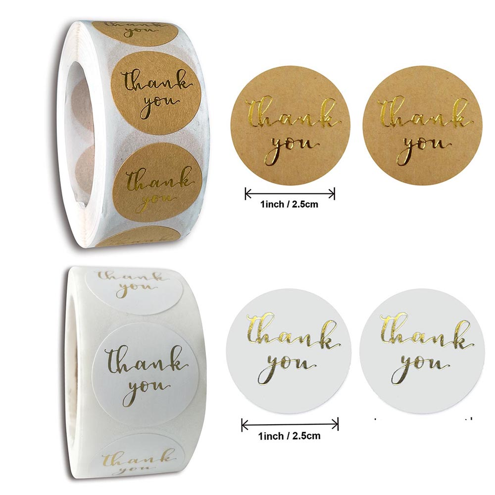 Supplies Wedding Decor Paper Sealing Tag Kraft Stickers Package Label Thank You