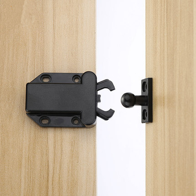 Double Ball Roller Catches Door Stopper Cupboard Cabinet Pulley Groove Spring Touch Latch Furniture Hardware