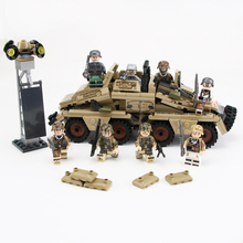 WW2 Military German Army SD.KFZ.233Z armored vehicle soldiers Figures weapon gun accessory Building Blocks Bricks kids For Toys