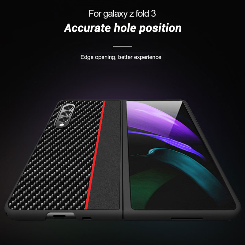 Carbon fiber leather Cover For Samsung Galaxy Z Fold 3 and Z Fold 2