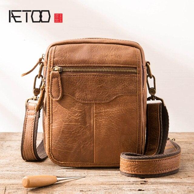 AETOOขายแฟชั่นคลาสสิกที่มีชื่อเสียงยี่ห้อผู้ชายกระเป๋าเอกสารของแท้หนังกระเป๋าCasual Manกระเป๋า