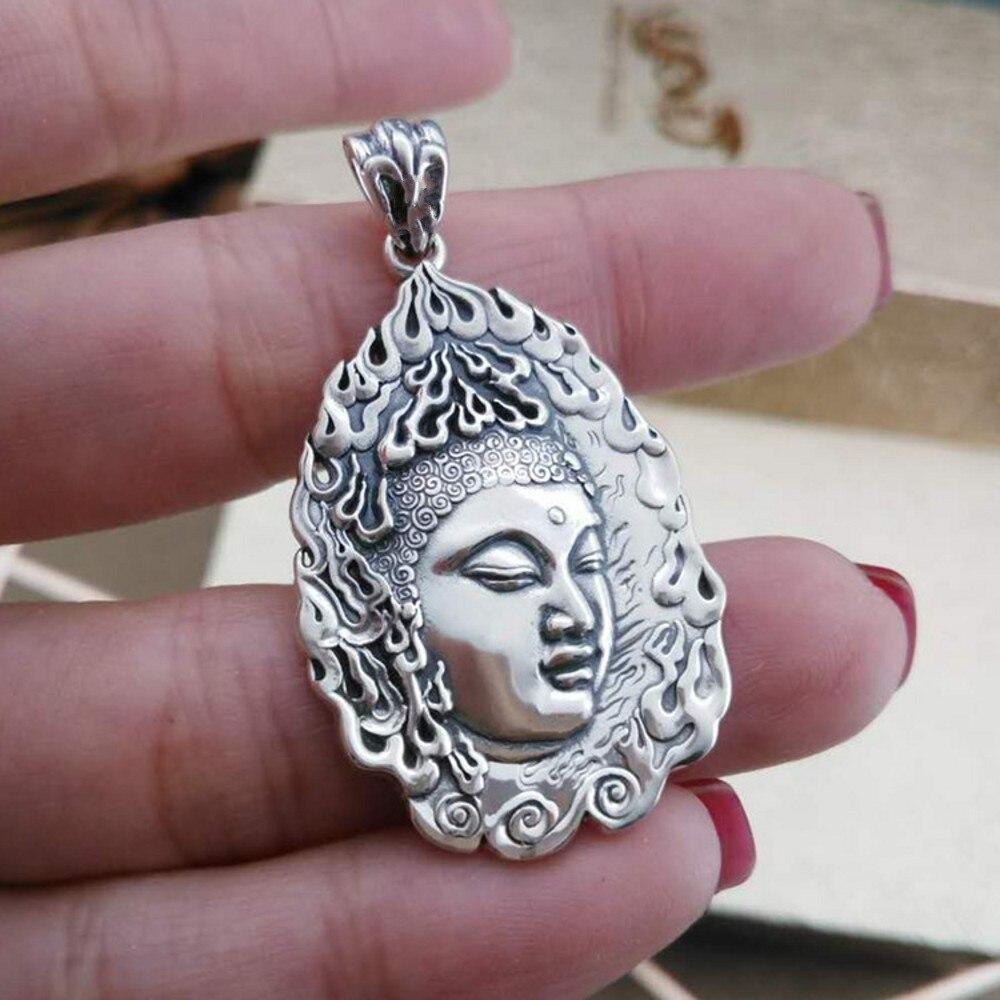 collier argent bouddha