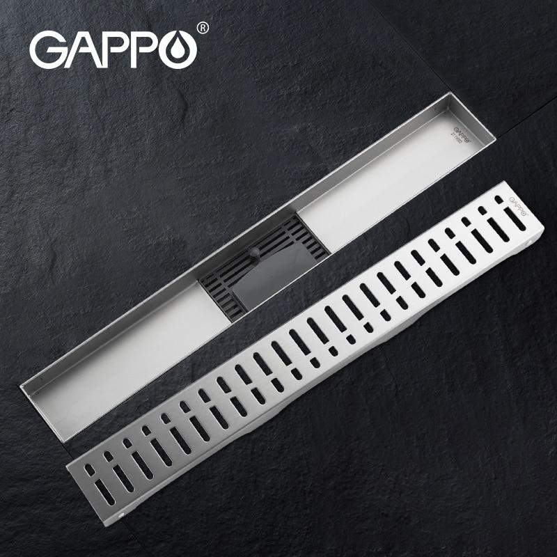 Линейный слив GAPPO, стопор с защитой от запаха, для ванной комнаты, душа