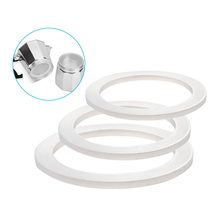 Milky White Flexible Washer Gasket Ring For Moka Pot Silicone Seal Espresso HG4840-HG4843 2020(China)