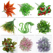 Green Plastic Artificial Leaves Plant Simulation flower for event festive party office hotel bar Home indoor Decoration props diagrammatic modelling for discrete event simulation