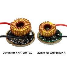 Carte de circuit imprimé pour lampe de poche et lanterne, 22mm, 15W, XHP50, 26mm, 30W, XHP70, 1 5 modes, 8-15V, PCB, pour XHP50.2, MKR, XHP70.2, MTG2